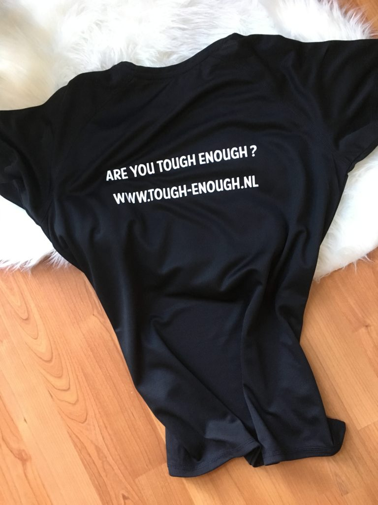 Achterkant Tough Enough T-Shirts
