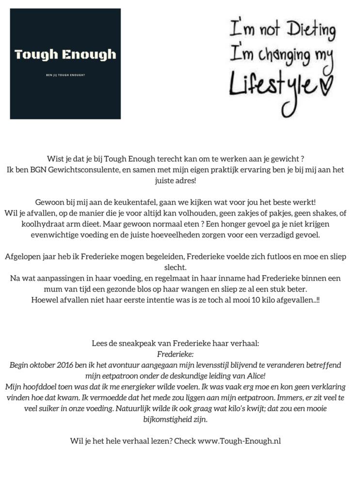 Succes verhaal Frederieke Rommelaar