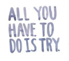 all you have to do is try
