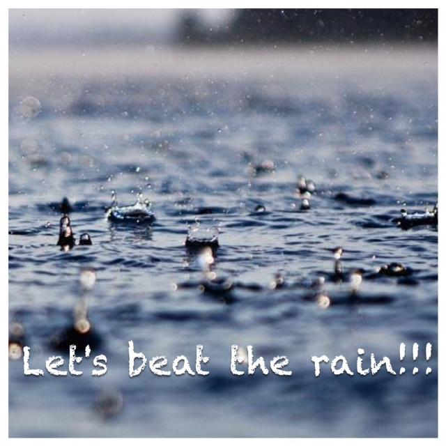 sport in de regen